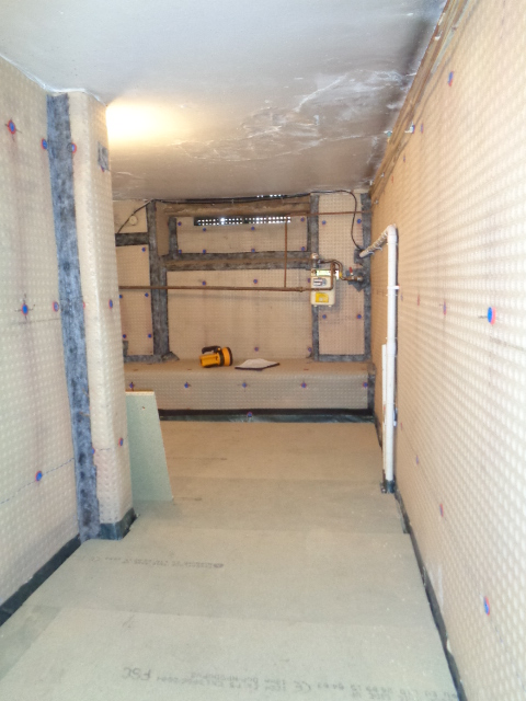 Cellar Conversion in Progress